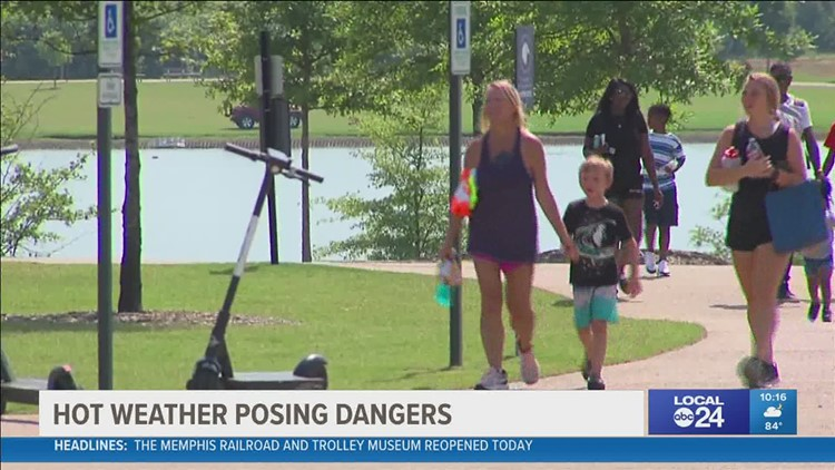 'I didn't realize it was this hot' | Extreme heat surprises some park goers