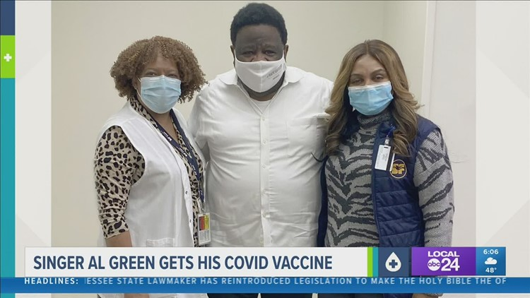 Memphis legend Al Green gets COVID-19 vaccine, encourages other to follow