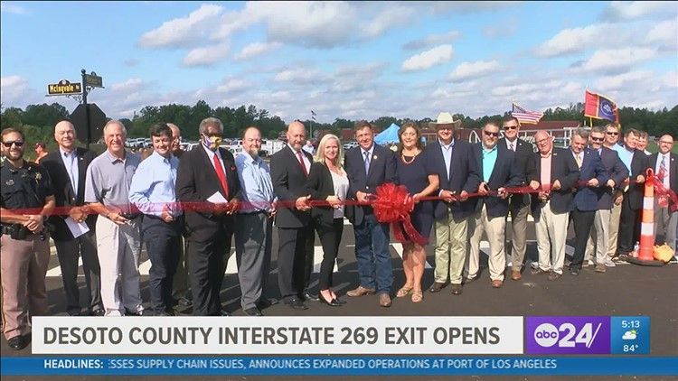 McIngvale Road & exit officially open on I-269 in Desoto County