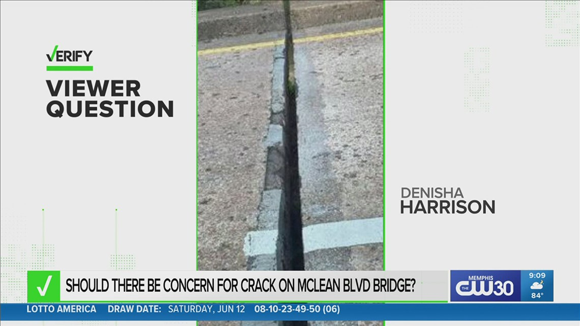 VERIFY: Is that a dangerous crack at James Road and McLean?