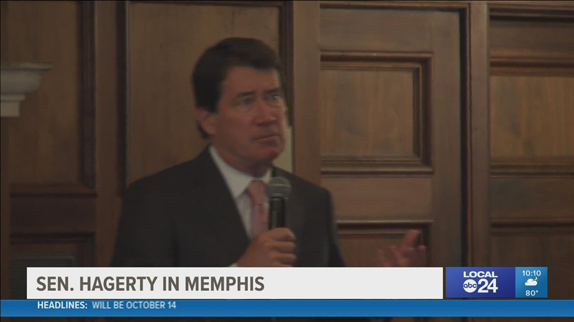 Senator Bill Hagerty visited Memphis and Shelby County as part of his economic development tour