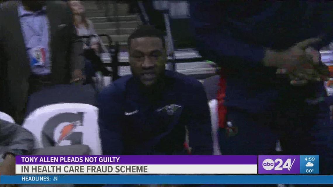 Former Grizzlies star Tony Allen pleads not guilty in health care fraud scheme