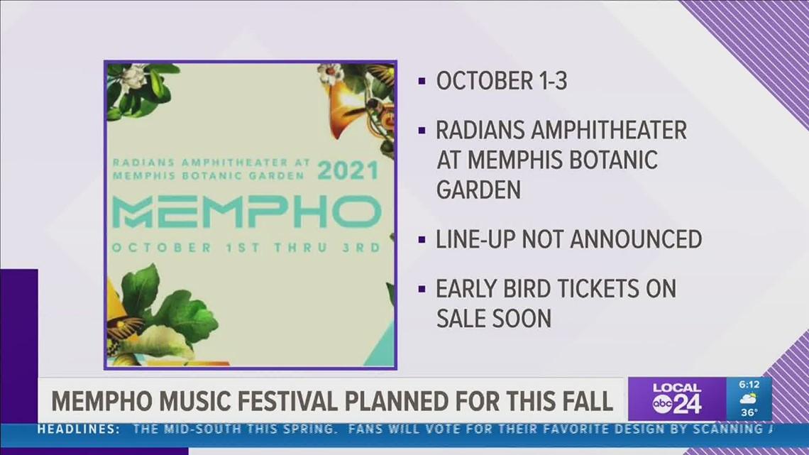 2021 Mempho Music Festival set for October 1-3 at Memphis Botanic Garden