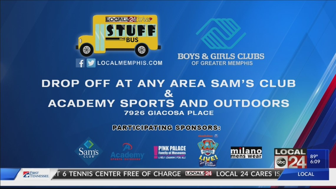 """Help Local 24 Cares and the Boys & Girls Club """"Stuff the Bus"""""""