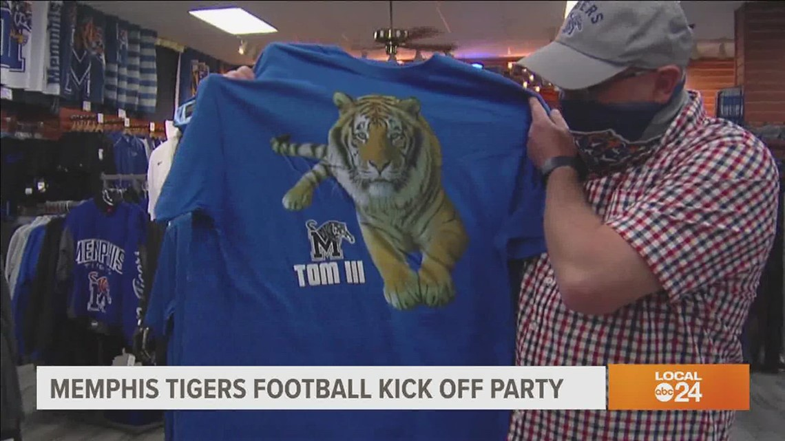 Kickoff party for Memphis Tigers football also celebrates past TOM tigers and TOM IV