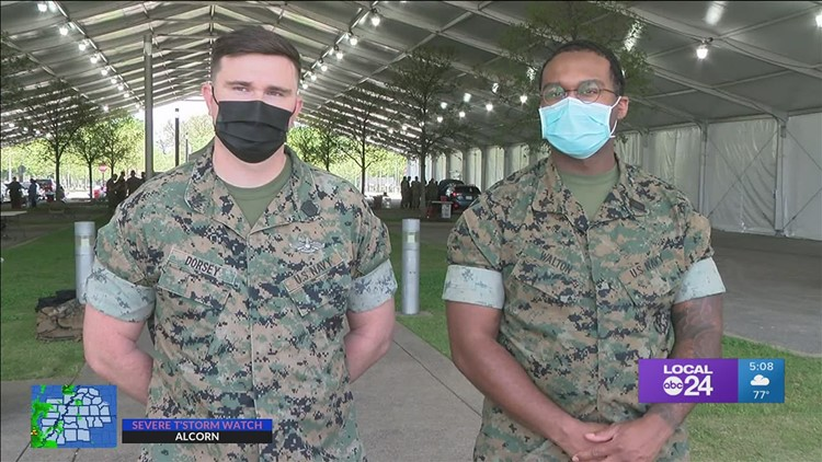 'Huge honor to come back to city that helped raise me' | Memphis natives are part of FEMA vaccination mission