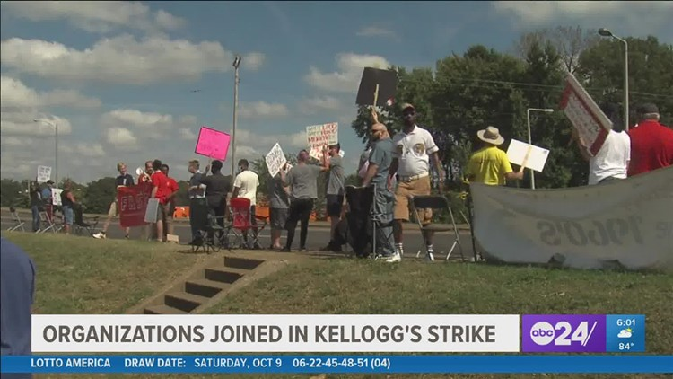 Memphis organizations show their support for striking Kellogg's workers