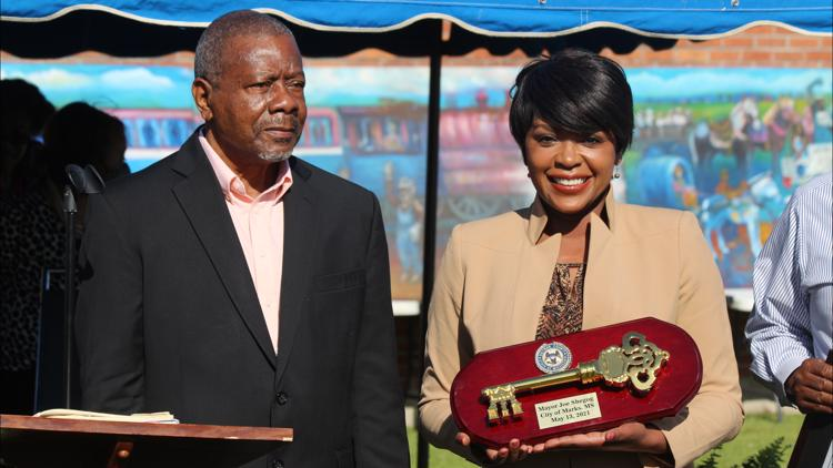 Local 24 News Weeknight Anchor Katina Rankin and Photojournalist Nicki Storey honored by city of Marks, Mississippi