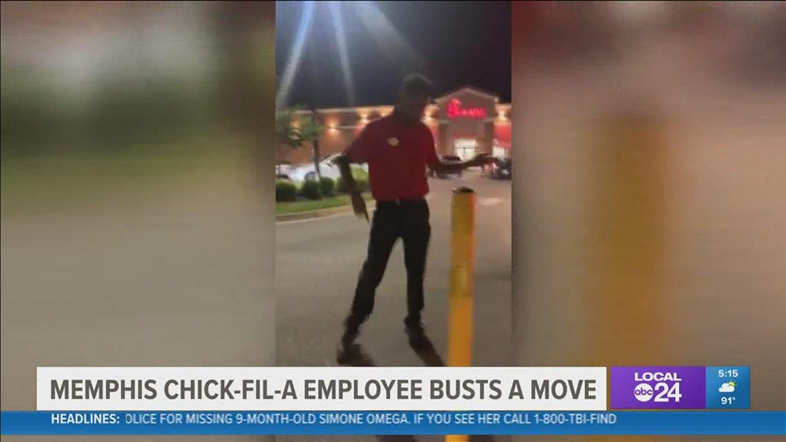 Memphis dancing Chick-Fil-A employee goes viral