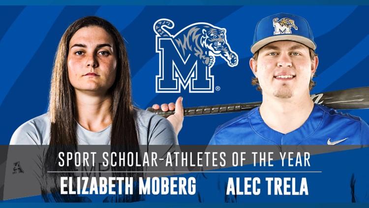Elizabeth Moberg & Alec Trela named 2021 AAC Sport-Scholar Athletes of the Year
