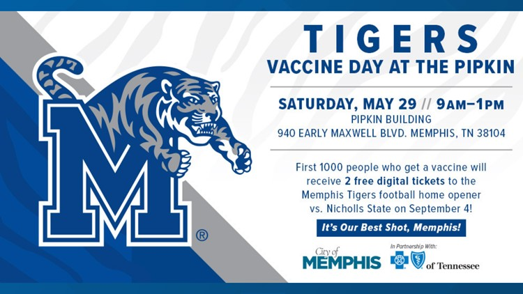 Get your COVID-19 vaccine, and you could get Memphis Tigers tickets