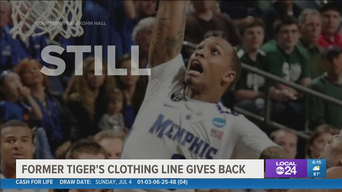 Former Memphis Tiger launches clothing line, 'Still Community,' celebrating Memphis and bringing awareness to mental health