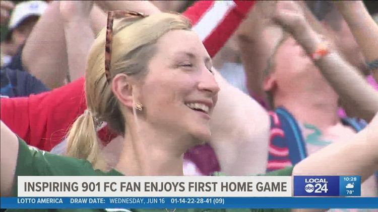 Memphis 901 FC supporter attends first match since beating cancer for the second time