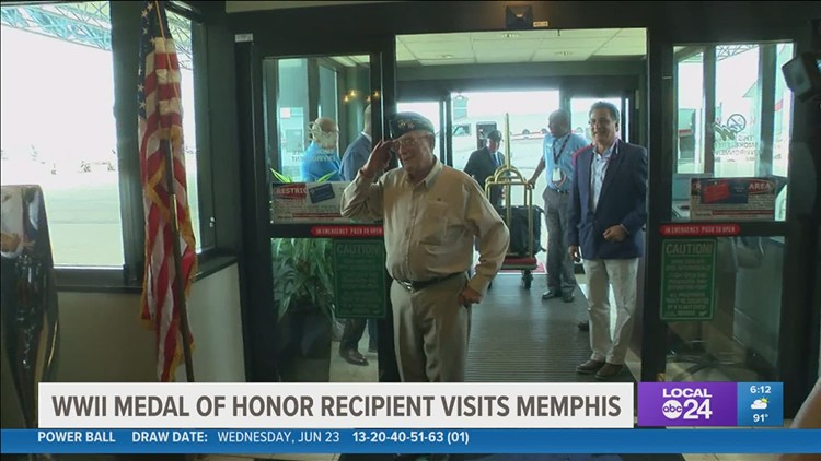 Memphis got a special visit from a certain American hero
