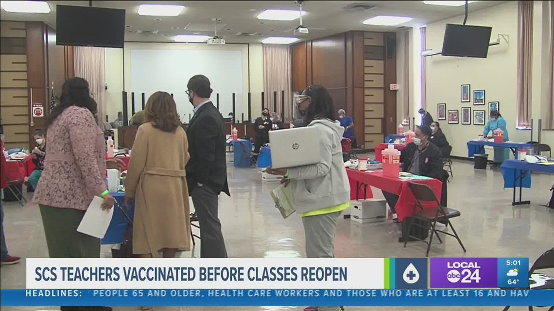 Shelby County Schools to begin wide-scale vaccination of teachers & staff