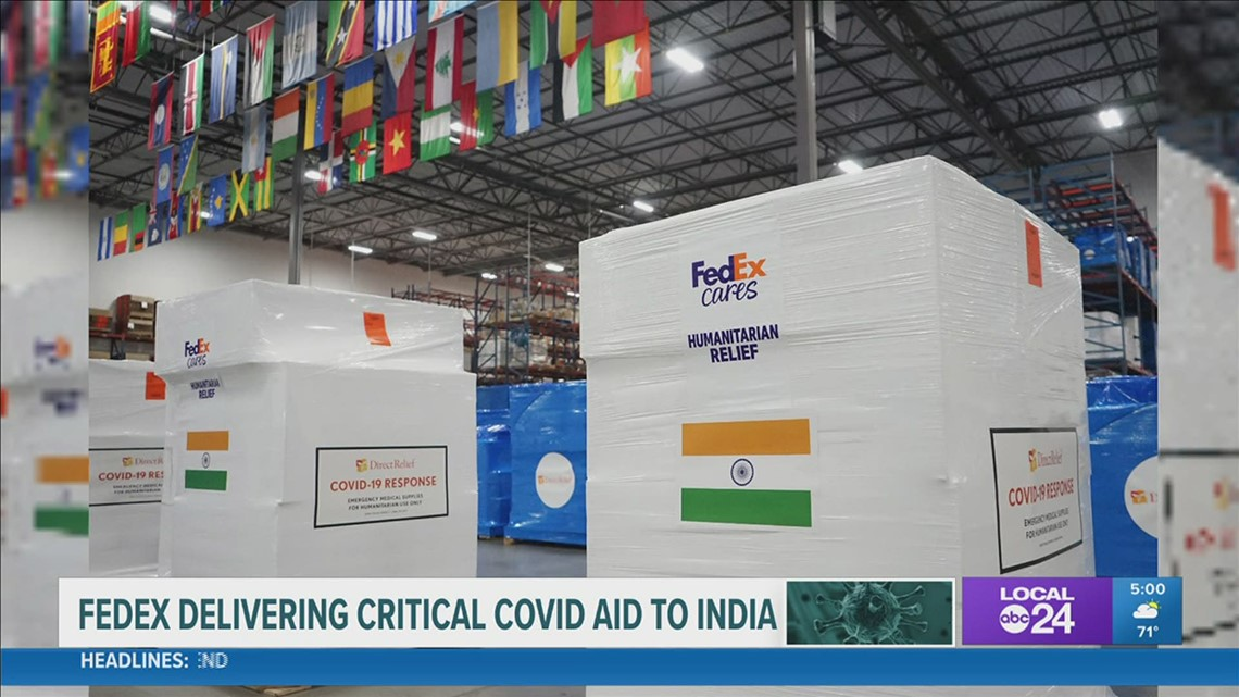 Memphis-based FedEx shipping critical supplies to COVID-ravaged India