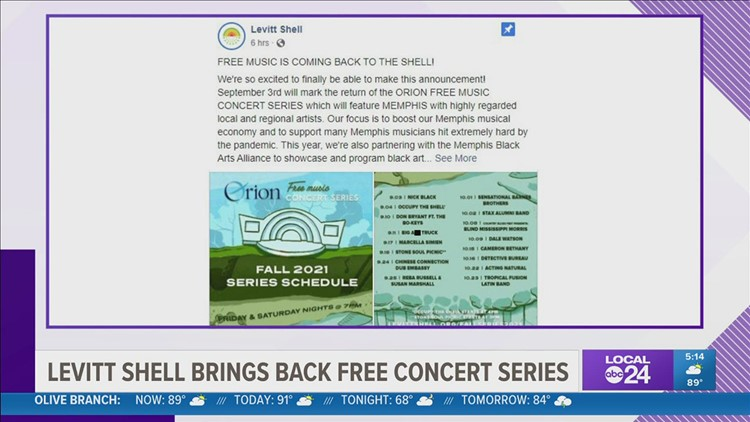 Levitt Shell's FREE concert series returns