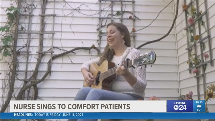 Nurse sings her song to COVID ICU patients