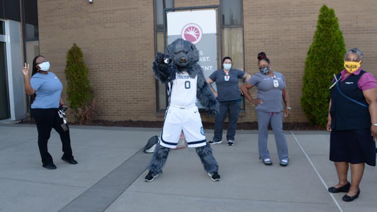 Memphis Grizzlies Street Team at Methodist South Hospital