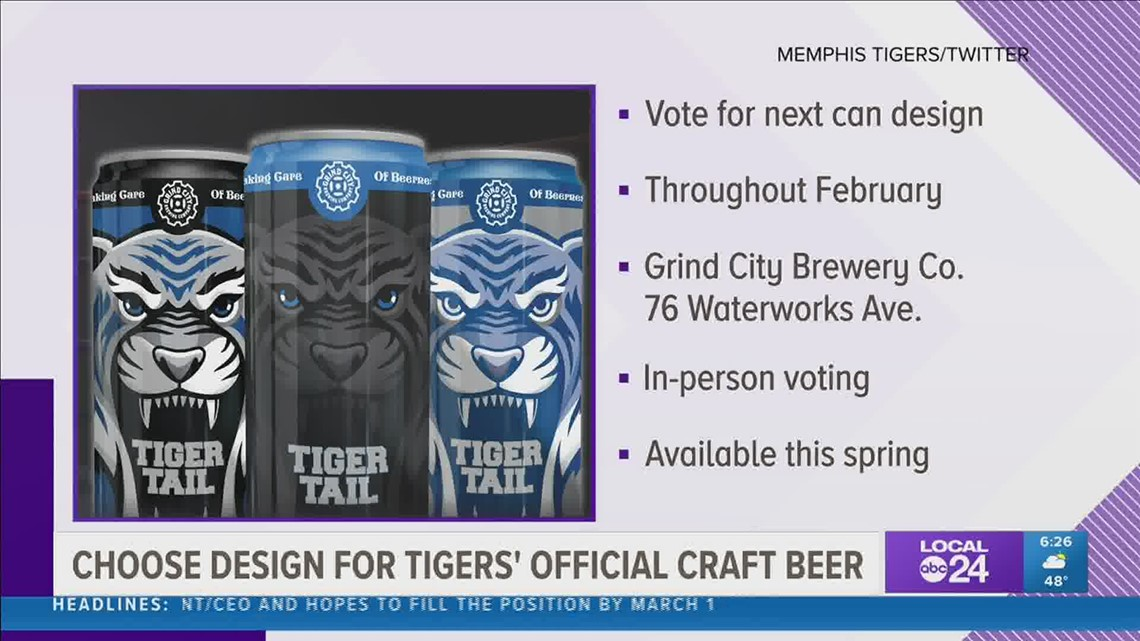 How you can help choose the can for Grind City Brewing Company's new Tiger Tail beer