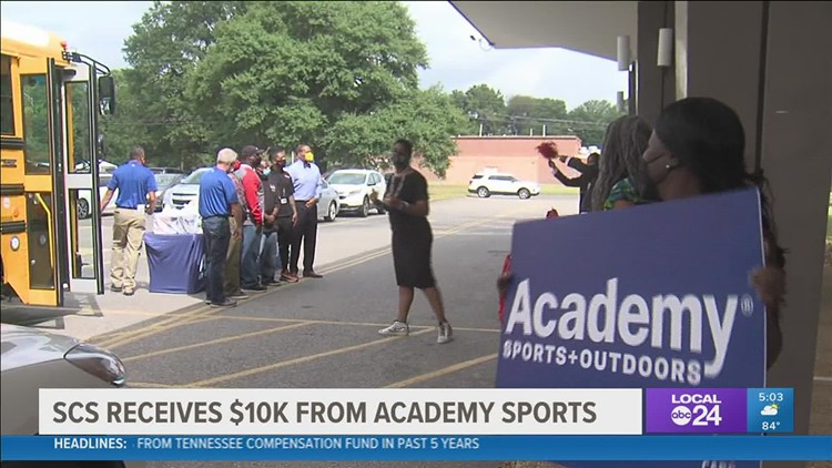 Academy Sports and Outdoors donates $10,000 to Shelby County Schools
