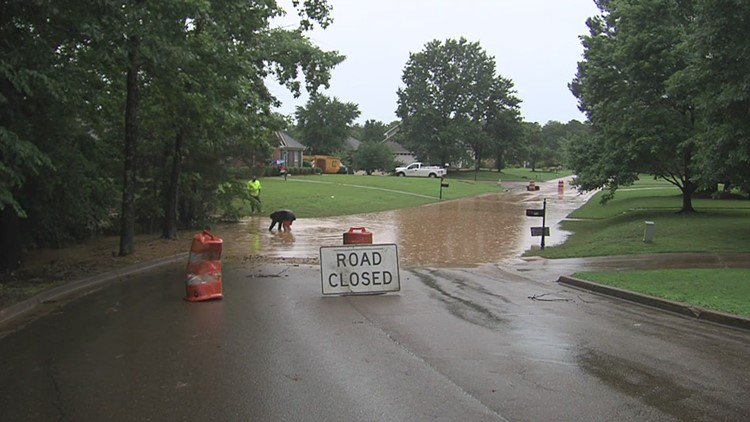 Flooding in Oxford, Mississippi