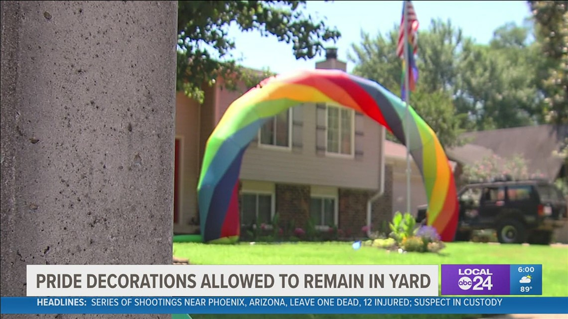 Bartlett backs off threats to take homeowner to court over Pride month decorations
