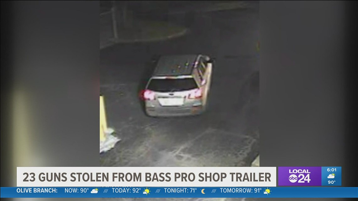 Wanted: Suspects stole nearly 50 guns from semi-trailer at Bass Pro in northeast Memphis