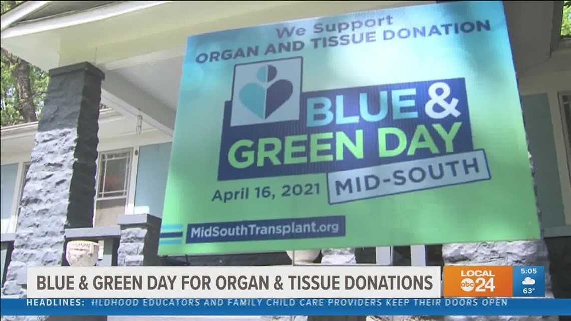 Blue & Green Day Mid-South aims to bring awareness to organ & tissue donation