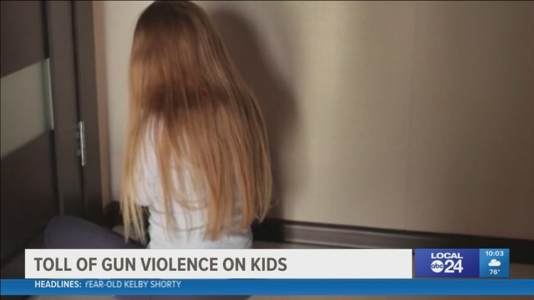 How does gun violence impact young children?