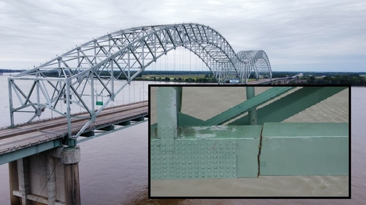 I-40 Hernando de Soto bridge over the Mississippi River could remain closed to vehicles for months