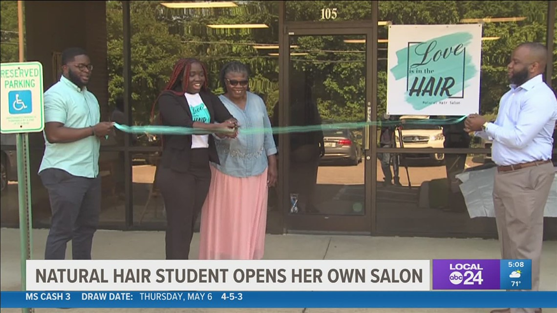 Mid-South woman thanks local lawmakers for helping her open her natural hair salon