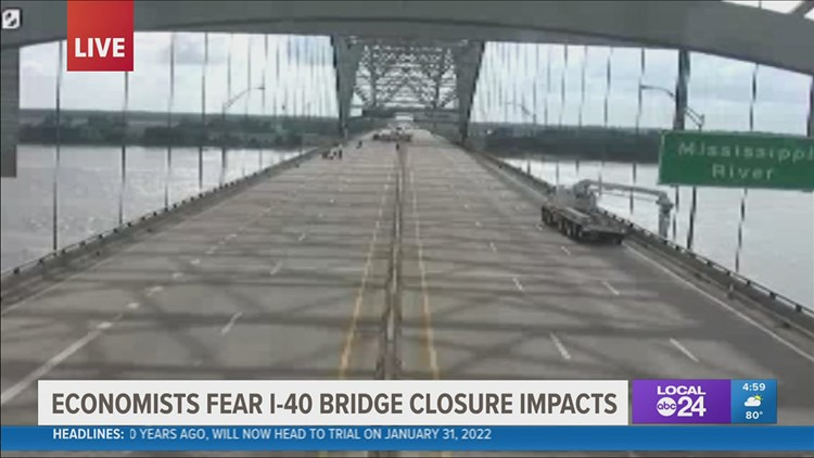Economists fear growing financial toll the longer the I-40 bridge is closed for repairs