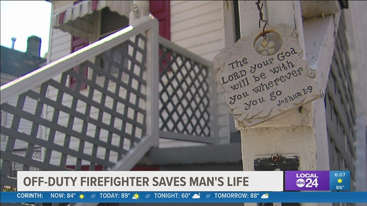 Off-duty Memphis firefighter hailed as a hero for saving life of man in cardiac arrest