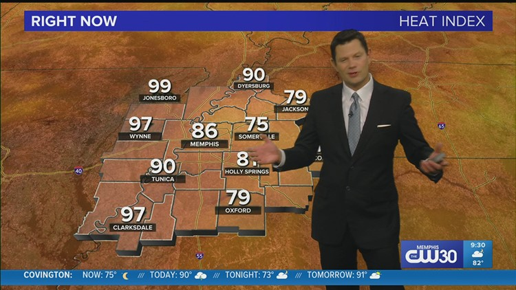 John Bryant's late night update discusses the chances for rain and heat relief