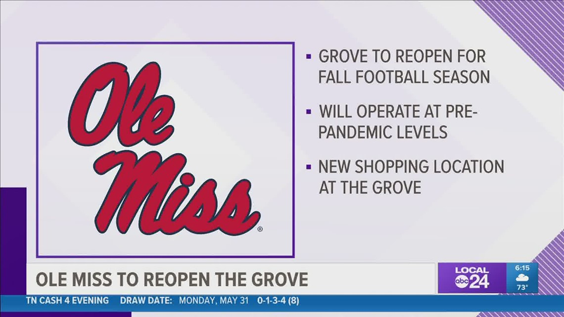 Ole Miss plans to reopen The Grove in the fall for football season