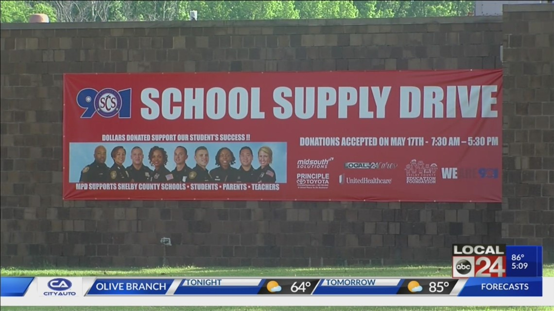 Local 24 Cares: School supply drive held for Shelby County students