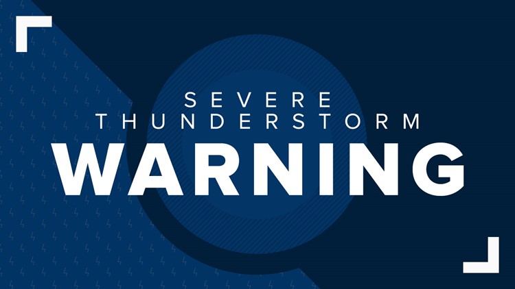 WATCH: Severe Thunderstorm Warning continues in Lauderdale County