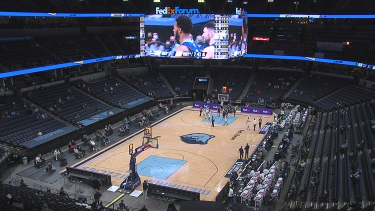No fans at Grizzlies vs Thunder at FedExForum Wednesday night