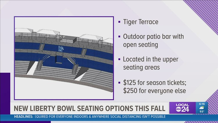 New seating options being offered for 2021 Memphis Tigers Football at Liberty Bowl Memorial Stadium