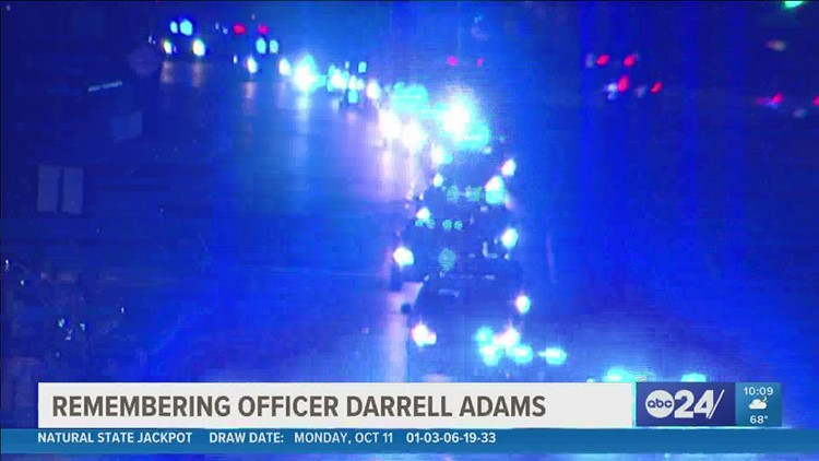 Family, law enforcement honor life of fallen Memphis Police Officer Darrell Adams