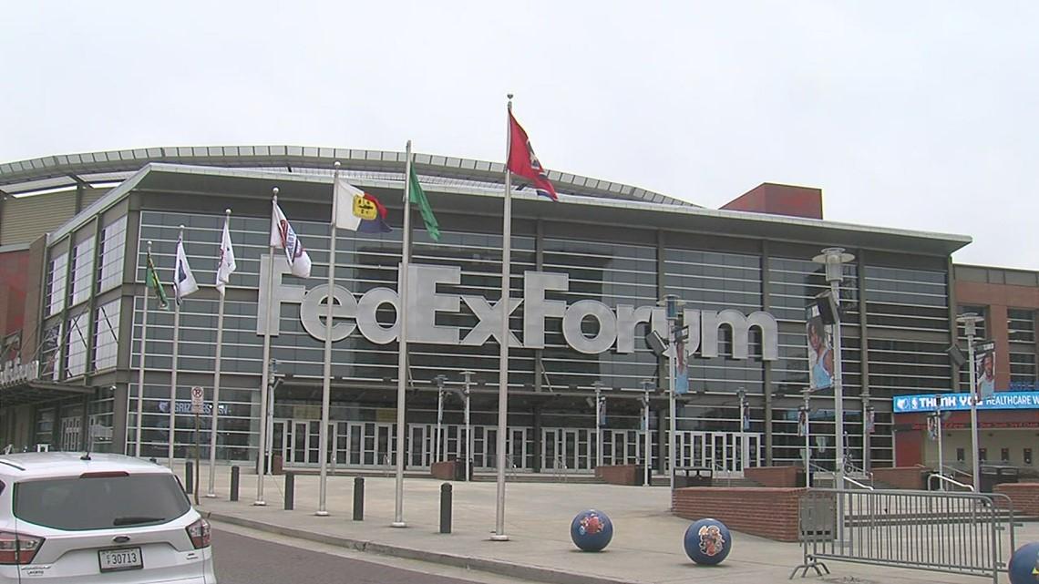 FedexForum flies the flag of Zamunda