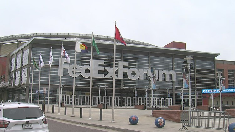 FedexForum flies the flag of Zamunda