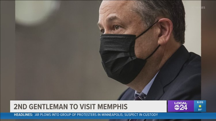 Second Gentleman Douglas Emhoff to make return trip to Memphis