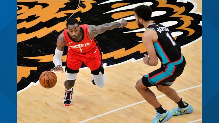 Wall, Gordon lead Houston Rockets past Memphis Grizzlies 115-103