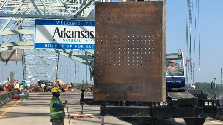 Arkansas Department of Transportation begins phase 2 of repairs on fractured I-40 Hernando de Soto bridge