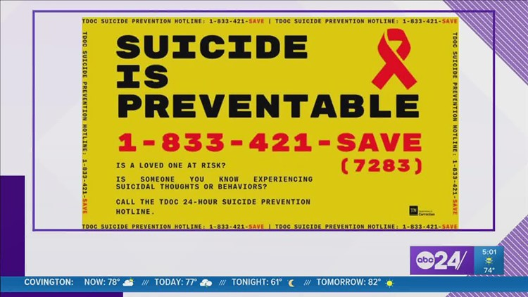 Tennessee prisons announce suicide prevention hotline