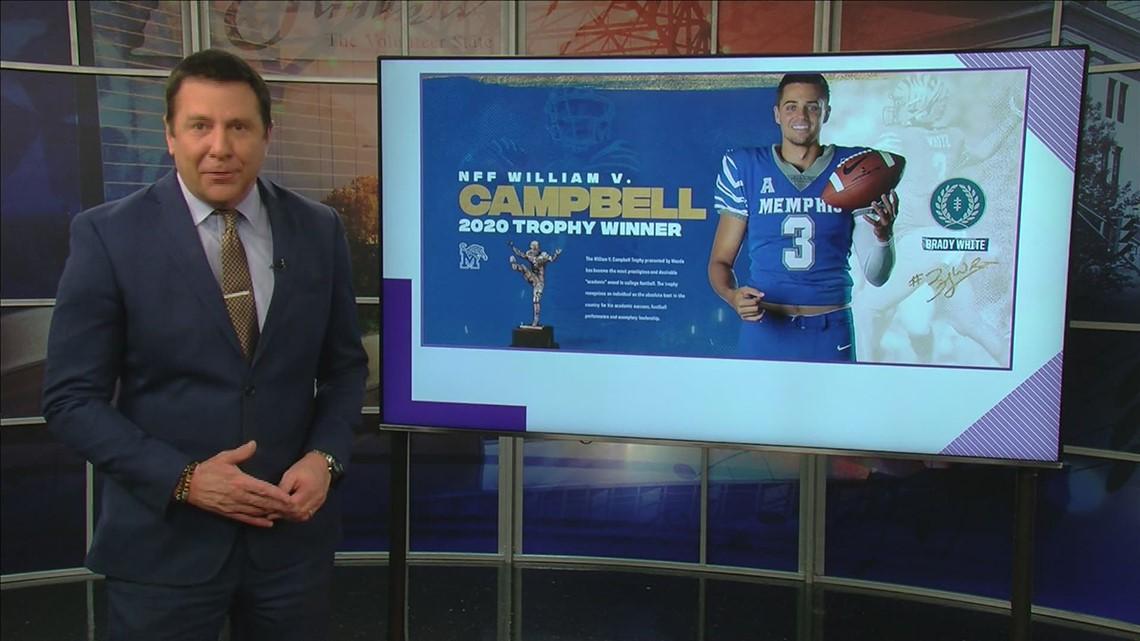 Memphis Tigers Quarterback Brady White wins William V. Campbell Trophy