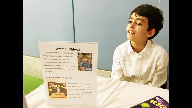 This Local Cool Kid is 9-years-old, in the 4th grade – and a celebrated published author