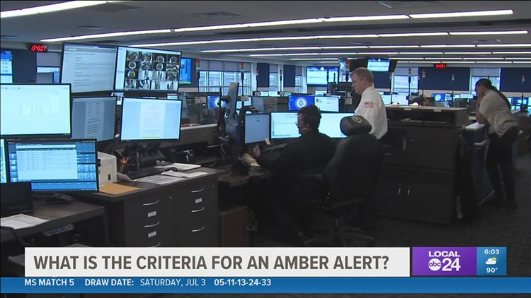When Amber Alerts are issued, there's certain criteria